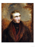 Portrait of John Mallord William Turner, Half-Length, in a Brown Jacket, in a Landscape Giclee Print by John Linell