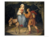 The Flight Into Egypt, 1822 Gicl&#233;e-Druck von Heinrich Maria Von Hess