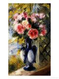 Roses in a Blue Vase, 1892 Posters by Pierre-Auguste Renoir