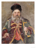 Portrait of a Cossack, 1880 Reproduction procédé giclée par Ilya Efimovich Repin