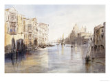 The Grand Canal, with Santa Maria Della Salute, Venice, Italy, 1865 Giclee Print by Edward Lear