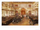 Taking an Oath of Allegiance in the Georgievskii Hall on the 8th September, 1843 Giclee Print by Adol&#39;f Ignatievich Ladurner