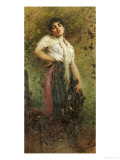 An Italian Fisherwoman Giclee Print by Egisto Lancerotto