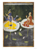 Krishna and Tadha Enthroned, Mankot or Bilaspur, circa 1700 Giclee Print
