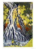 The Kirifuri Waterfall at Mt. Kurokami in Shimotsuke Province Poster by Katsushika Hokusai