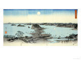 Night View of Eight Excellent Sceneries of Kanazawa in Musashi Province Prints by Ando Hiroshige