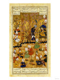 Illustration to the Shahnameh Shiraz, Persia Murhid Al Kabib Al Shirazi, 1539 AD Premium Giclee Print