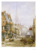 The High Street, Salisbury Giclee Print by Louise J. Rayner