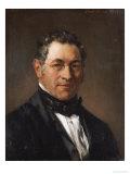 Portrait of Professor Siegfried Dehn (1799-1858) Giclée-Druck von Adolf Von Menzel