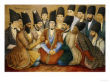 A Young Qajar Prince and His Entourage Giclee Print by Abul Hasan