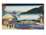 """View from """"Seven Hot Springs at Hakone"""" Premium Giclee Print by Ando Hiroshige"""