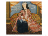Portrait of a Young Man Dressed as a Woman, Persia, Qajar, circa 1820 Giclee Print