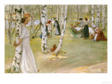 Breakfast in the Open (Frukost I Det Grona), 1910 Premium Giclee Print by Carl Larsson