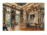 A Bedroom in the Tzar's Palace at Tsarskoe-Selo, St. Petersburg, 1870 Premium Giclee Print by Luigi Premazzi