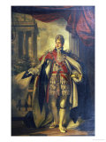 Portrait of King George Iv as Prince of Wales, Standing Full Length in Garter Robes Print by Thomas Phillips