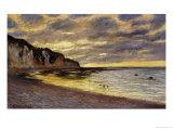 Pointe de Lailly, Maree Basse, 1882 Plakater av Claude Monet