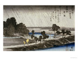 Night Rain at Azuma Shrine Prints by Ando Hiroshige