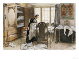 Karin by the Linen Cupboard (Karin Vid Linneskapet), 1906 Giclee Print by Carl Larsson