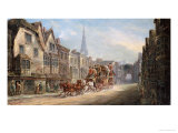 The London to Exeter Royal Mail Passing Through Salisbury, 1895 Art by John Charles Maggs