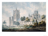 Ely Cathedral from the South-East, 1763-1804 Print by Edward Dayes