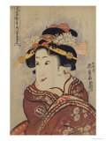 The Actor Iwai Hanshiro V as Yaoya Oshici, circa 1815 Print by Utagawa Kunisada