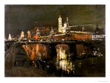 The Illumination of the Kremlin, 1896 Giclee Print by Isaac Il'ich Levitan