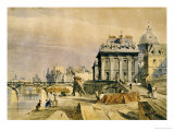 L'Institut and the Pont Des Arts, Paris, 1828 Prints by Thomas Shotter Boys