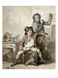 A Brace of Blackguards, Traditionally the Artist and George Morland, 1789 Posters by Thomas Rowlandson