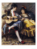 A Spanish Singer and His Lady Giclee Print by Arthur Alfred Burrington