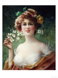 Blossoming Beauty Premium Giclee Print by Emile Vernon