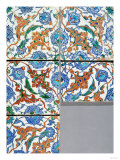 Five Iznik Polychrome Square Tiles, Late 16th Century Posters