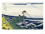 Soshu Kajikazawa in Kai Province from the Series the Thirty-Six Views of Mount Fuji Giclee Print by Katsushika Hokusai