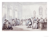 The Comforts of Bath, the Pump Room Print by Thomas Rowlandson