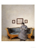 Ida Hammershoi Sitting on a Sofa Giclee Print by Vilhelm Hammershoi