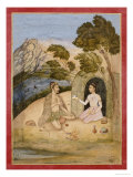 A Lady Entertaining a Bhil, 1650-1700 Reproduction proc&#233;d&#233; gicl&#233;e par Ali Quli Jubadar