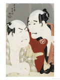 Double Half-Length Portrait of the Actors Nakajima Wadaemon and Nakamura Konozo, circa 1794 Giclee Print by  Toshusai Sharaku