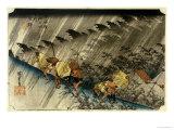Driving Rain, Shono Posters by Ando Hiroshige