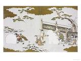 Children Making a Snow Shishi and Rolling a Snowball Prints by  Utamaro Kitagawa