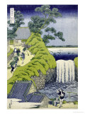 Aoigaoka Waterfall in the Eastern Capital Giclee Print by Katsushika Hokusai