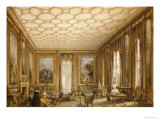 View of a Jacobean-Style Grand Drawing Room, English School, circa 1840 Posters