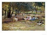 In the Park Giclee Print by Franz Theodor Aerni