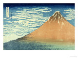 Fine Wind, Clear Morning Posters by Katsushika Hokusai