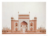 The Gateway of the Taj, Agra School, circa 1815 Posters