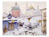 Townscape in Winter Giclee Print by Konstantin Ivanovich Gorbatov