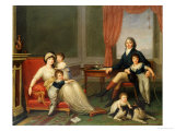 The Lambton Family in Italy, Dated 1797 Giclee Print by Augusto Nicodemo