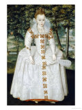 Portrait of a Lady, Traditionally Identified as Queen Elizabeth of Bohemia, Dated 1603 Giclee Print by Robert Peake