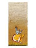 Krishna tocando la flauta Lámina giclée