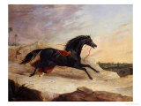 Arabs Chasing a Loose Arab Horse in an Eastern Landscape Print by John Frederick Herring I