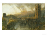 Westminster from a House Top Print by Albert Goodwin