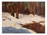 Snowscape, 1881 Giclee Print by Ivan Fedorovich Choultse